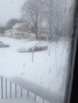 My truck (Blizzard 2013 / View from back door)