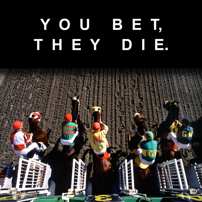 Horse Racing. You Bet, They Die Poster. Tuesday's Horse.